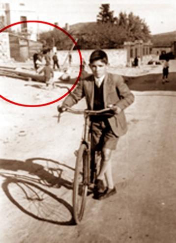 En la fotografía, remarcados con un círculo rojo, se puede ver la única imagen que hemos conseguido de los mayos en Covaleda