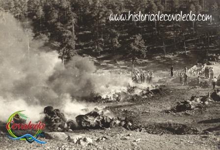 Incendio en los Hornos de Pez de Covaleda junto al Puente de Soria ocurrido en Julio de 1960