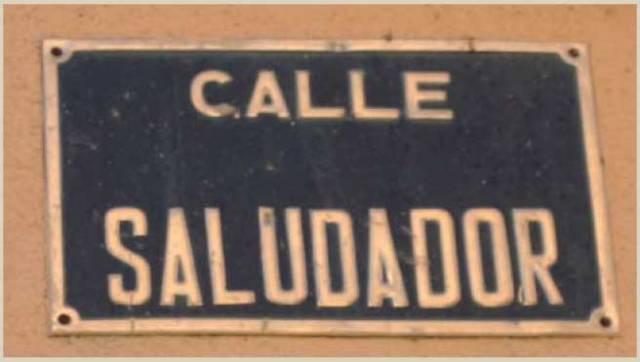 Calle dedicada al saludador en la localidad turolensede Sarrion